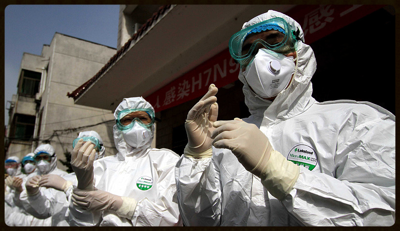 April 10, 2013 安徽举行人感染H7N9禽流感应急演练
