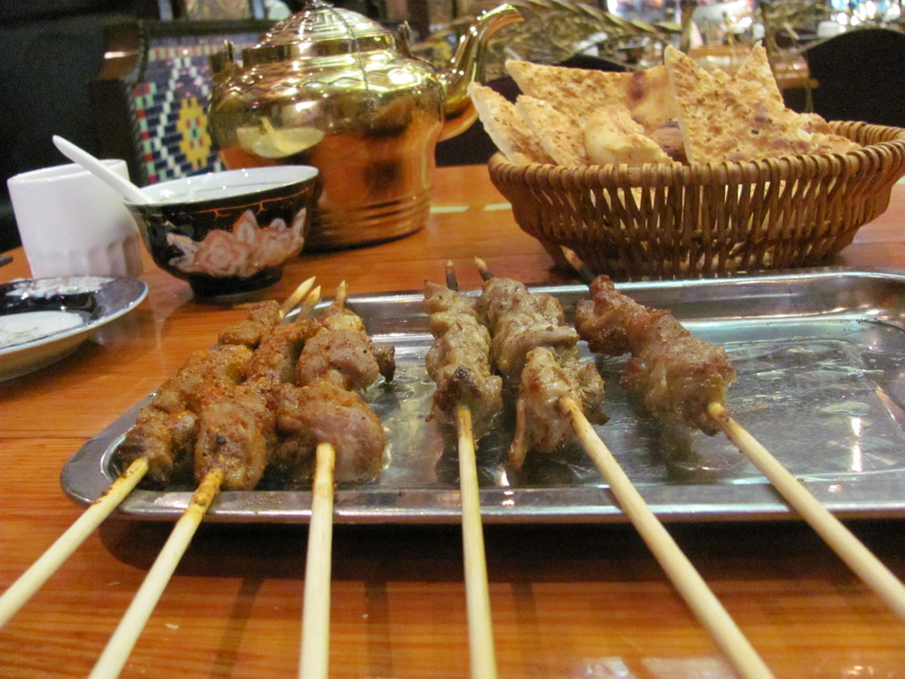 Uyghur food! Lamb skewers