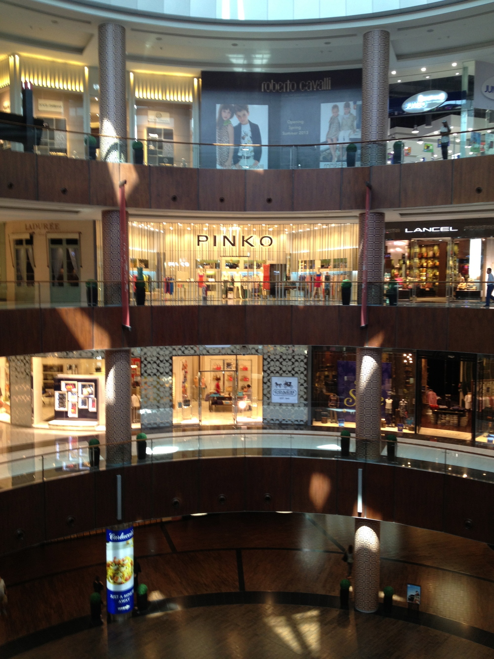 The 4 levels of the Dubai Mall