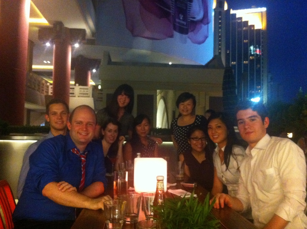 With staff & fellow interns at Beef & Liberty