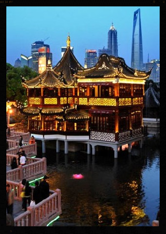 One of my favorites when there's not a swarm of tourists, the Old Shanghai Teahouse.  (Built 1784)