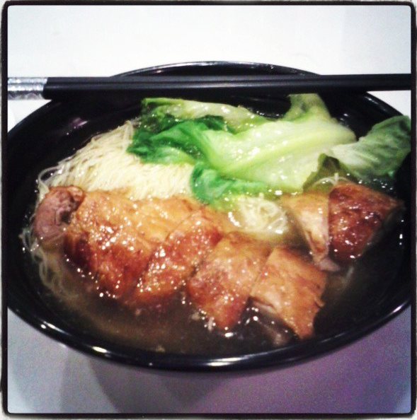 H.K. style duck noodle soup