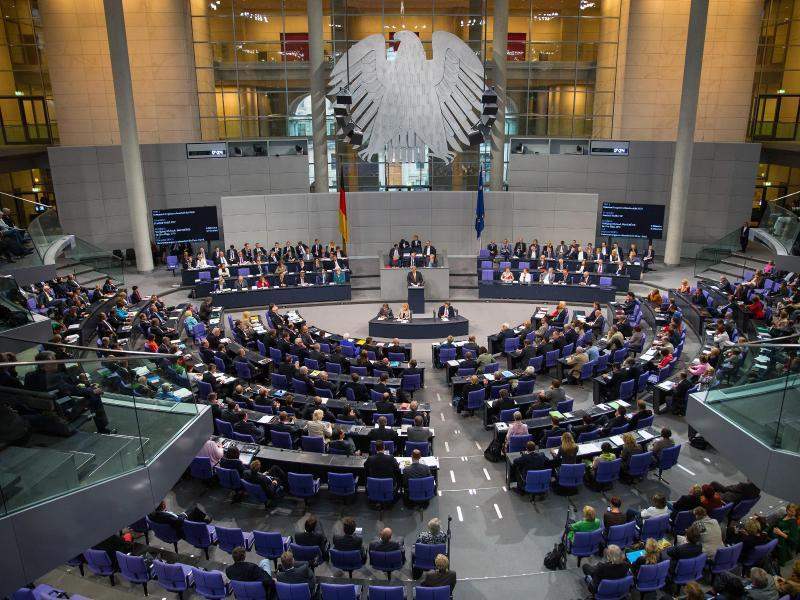 Bundestag in session