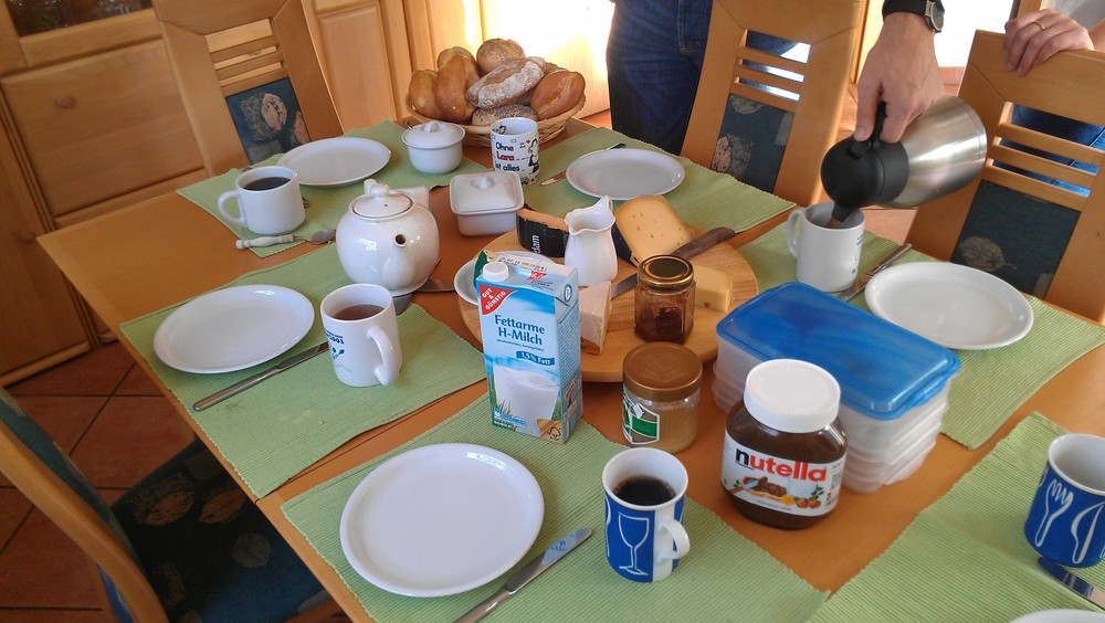 German breakfast table