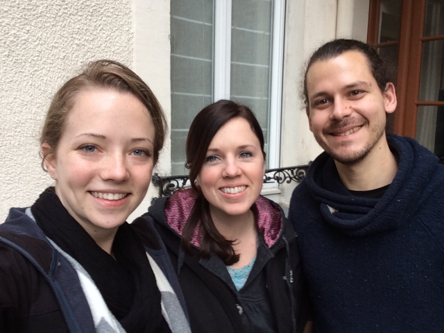 Here is our friend, Jeremy, who we stayed with in Paris (From left to right: Taylor, Lexi, Jeremy).
