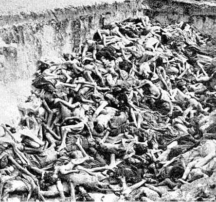 Holocaust Victims in a Mass Grave