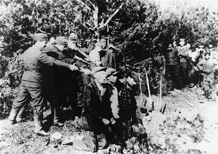 Killing Squad Executing Jews