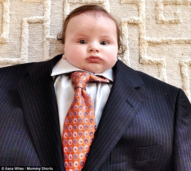 This baby looks better in a suit than I do, seriously.
