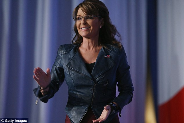 Definitely hating now. Sweet leather jacket Sarah, who gave it to you? The NRA? Hey guys, when Sarah is done with her speech she is riding home on a Harley, she didn't have time to change. (sorry/not sorry)