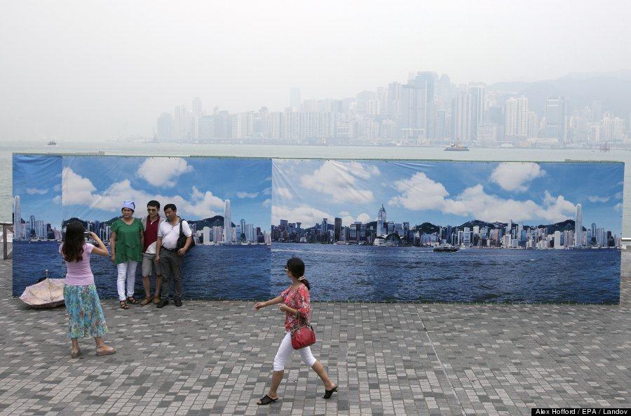 Hong Kong's polluted air.