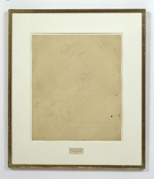 This one is my favorite of his, he erased a DeKooning.