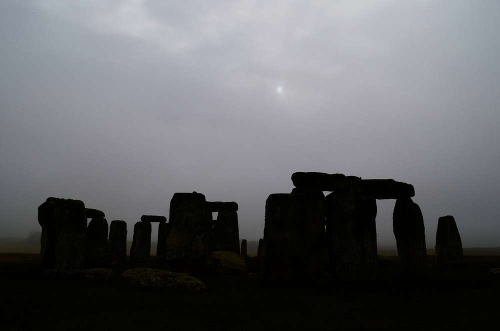 It was foggy at Stonehenge. Welcome to Britain