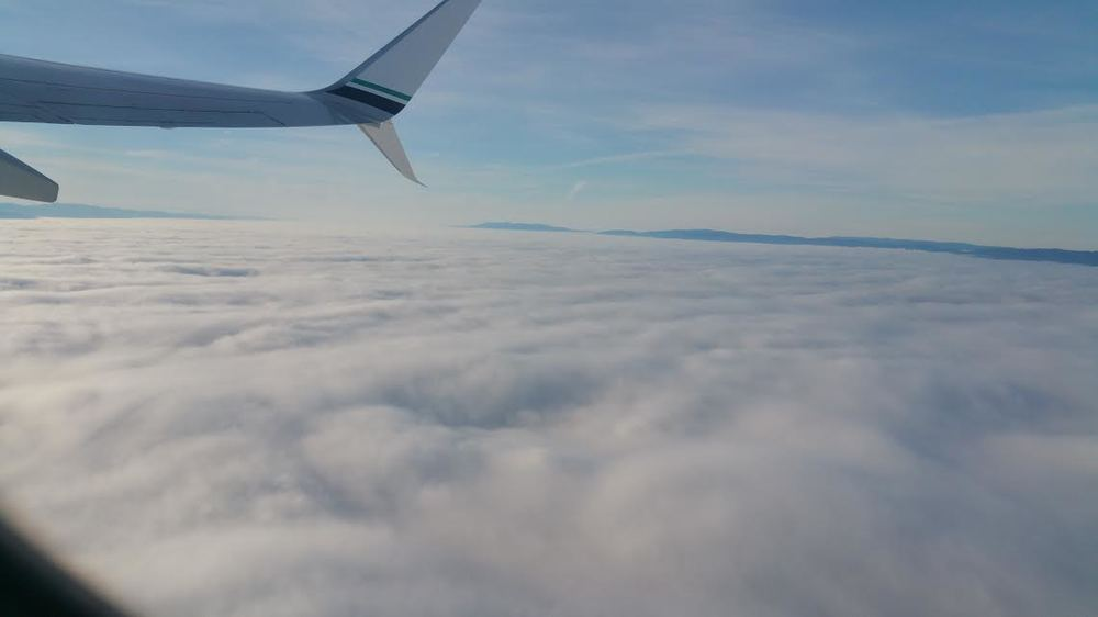 My view from San Francisco to Portland!
