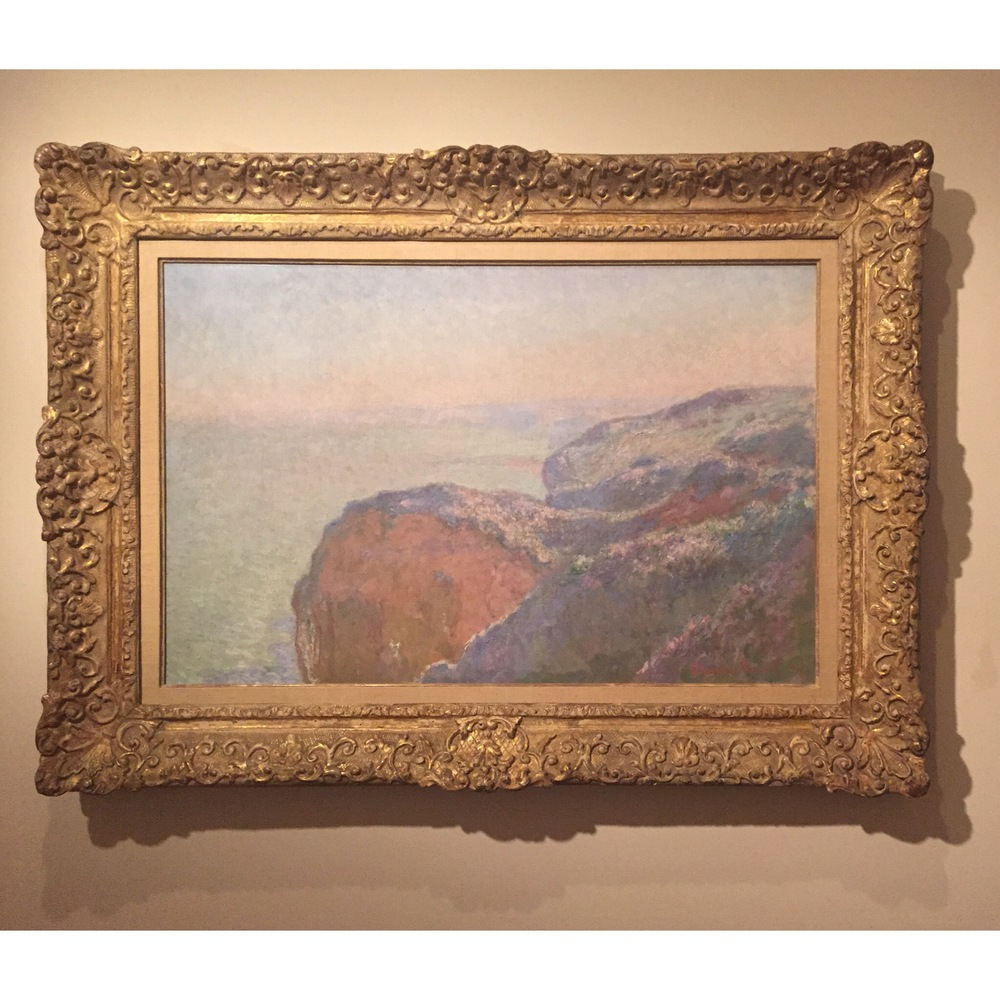 My favorite: Claude Monet, Au Val saint-Nicolas près Dieppe, Matin, 1897. The soft colors make it so peaceful.