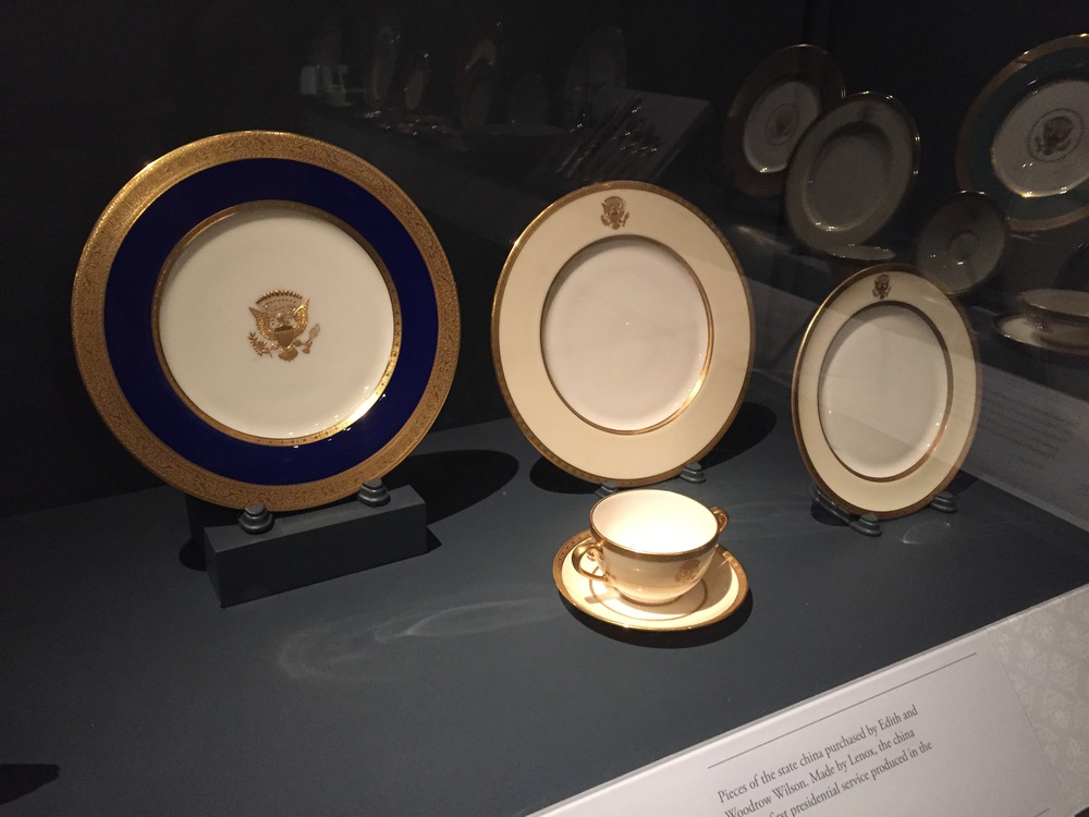 President Wilson's presidential china.