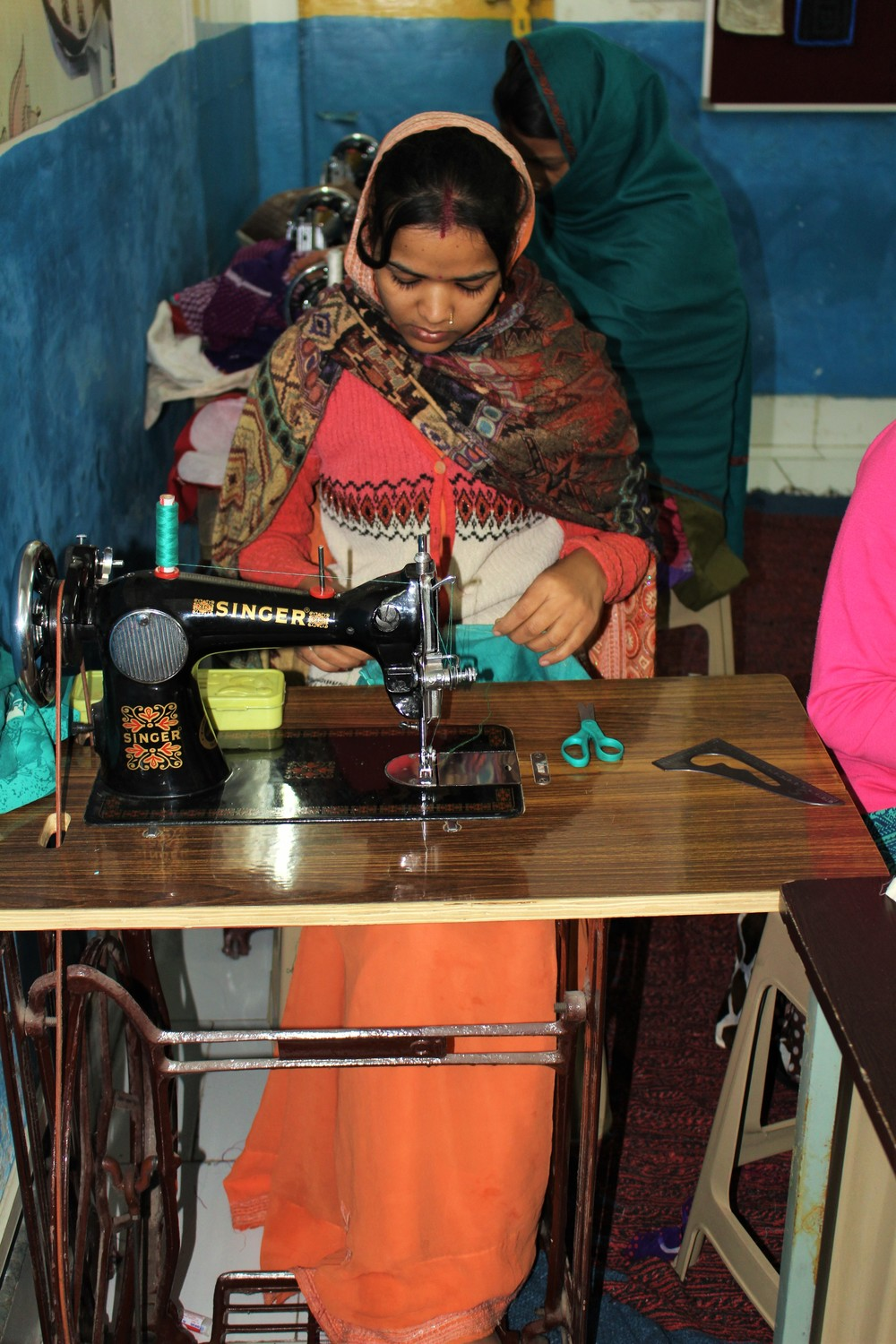 Just one of the many  beautiful women of Soniya Vihar-Sewing Class