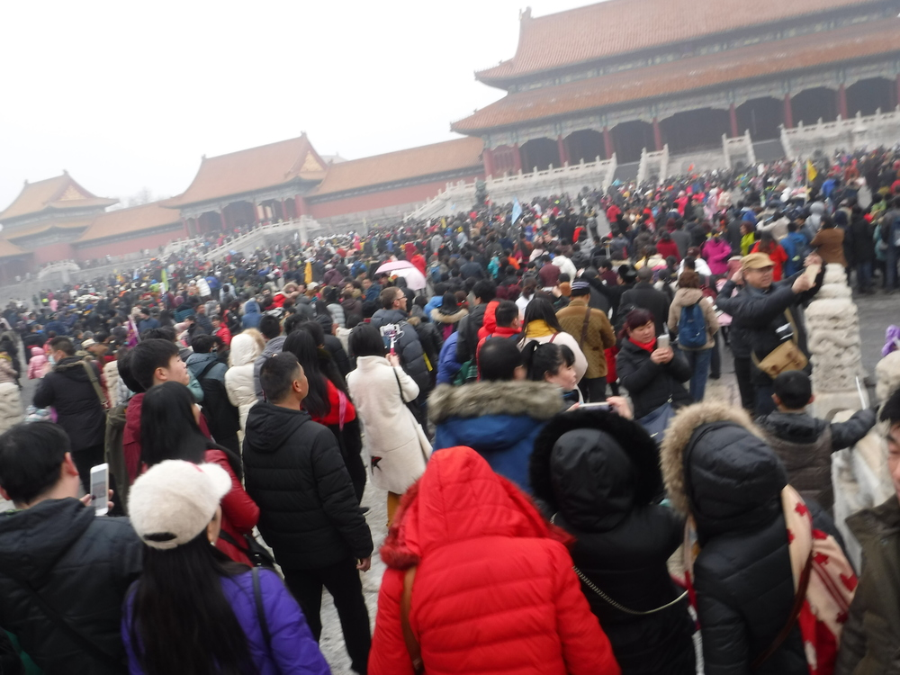 A small portion of the crowds we experienced in one of the courtyards of the Forbidden City
