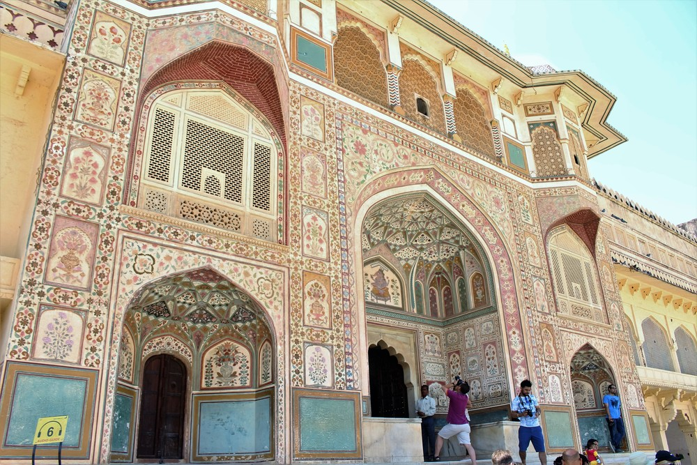 Beautiful colors of Amer Fort