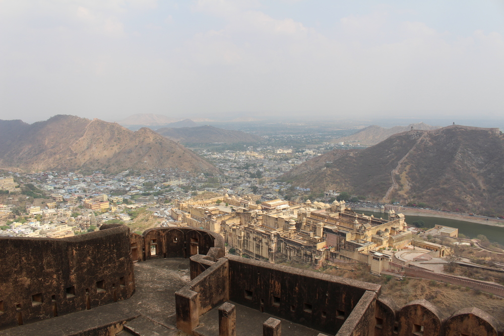 View from Jahgar fort of Amer Palace