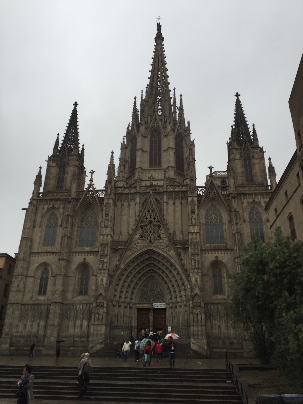 This is the Barcelona Cathedral.  Gotta love those spires