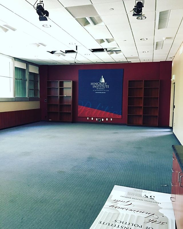 Hello June...goodbye Hinckley Caucus Room. This cherished space has graciously hosted hundreds of students and distinguished guests. Here's to continuing the legacy of civic engagement on campus. #caucusroomtribute #51yearsofexcellence #farewellosh