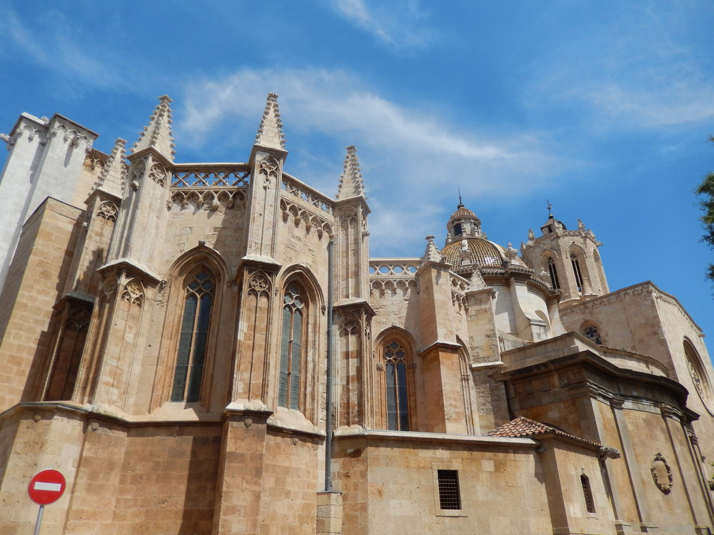 Very picturesque view of the cathedral of Taragona, largest one in Catalunya.