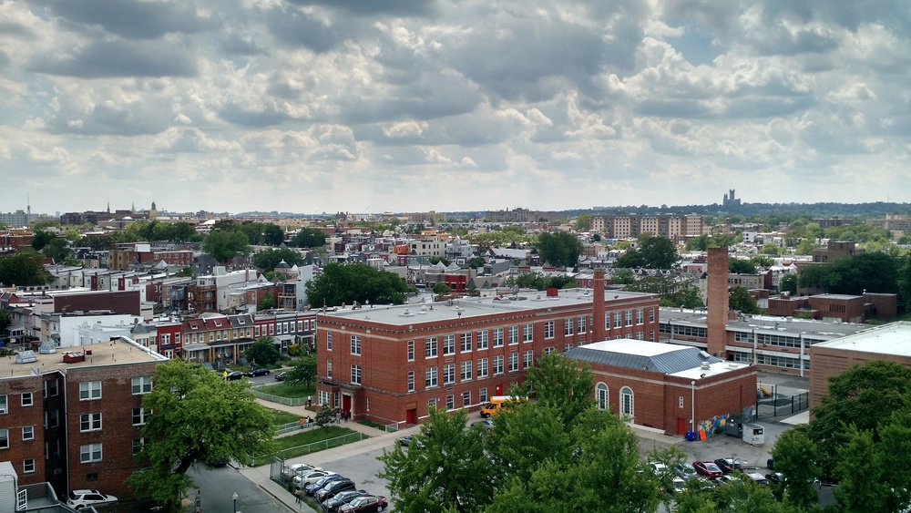 The view from our roof, facing southwest