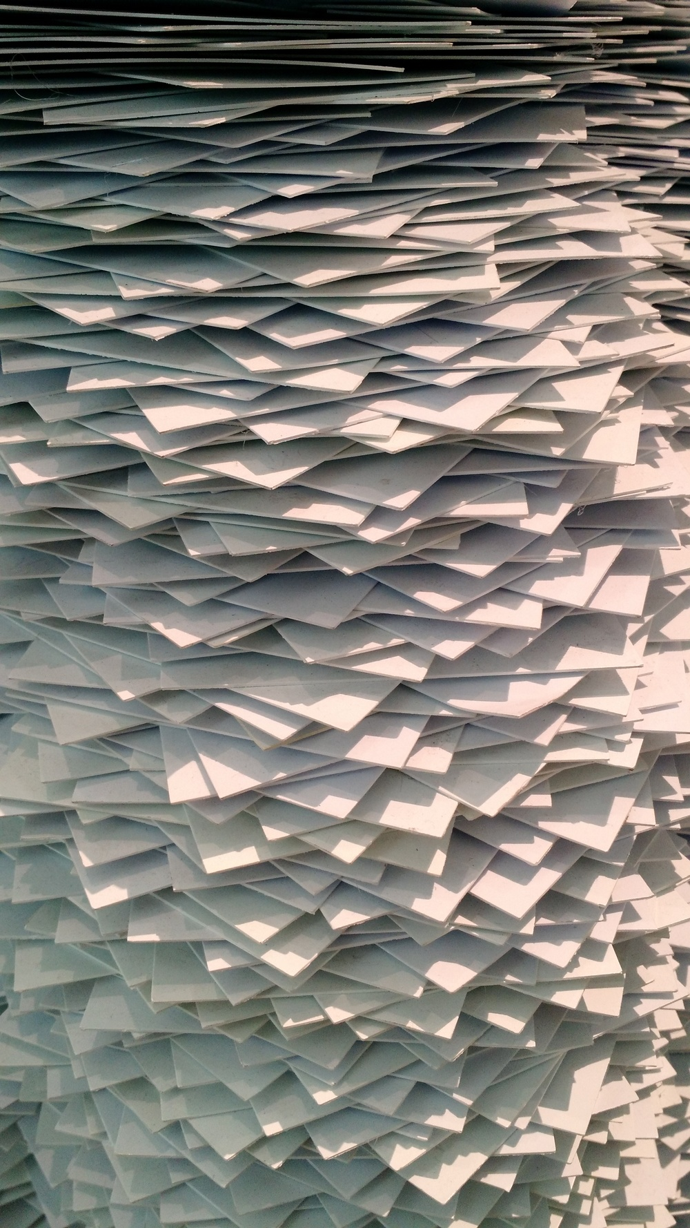 They're made entirely of index cards.