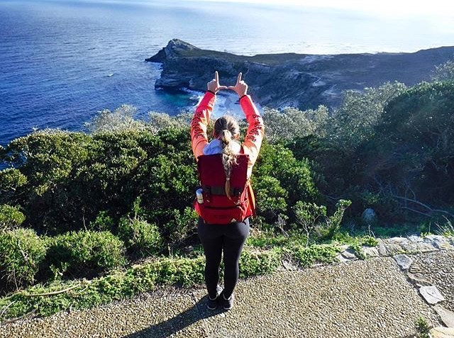 #flashtheufriday from the most south western corner of Africa. Shout-out to @swimjenn for rocking the Hinckley backpack! #hinckleyintern #VAcorp