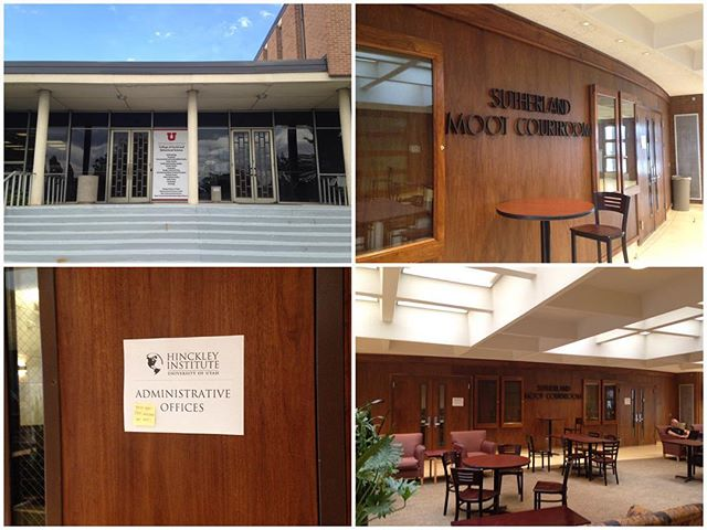 Important update: Our temporary office is now located in the old Law School (BLDG 73) inside the old Moot Courtroom (Room 110). Our phones are up and running so please contact us at 801-581-8501 or stop by anytime with questions.