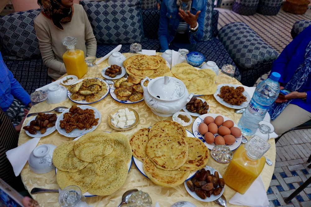 Some typical dishes served for iftar