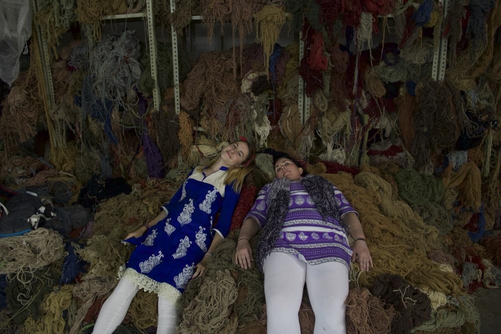 Persian rug yarn