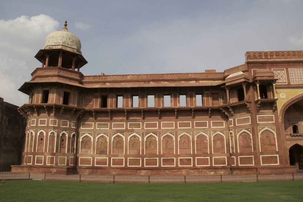 The exterior of Agra Fort