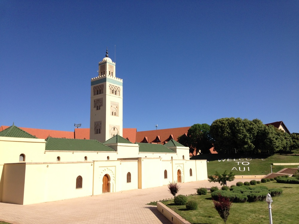 The campus in Ifrane.  The lawns and gardens are so manicured that they charge you if you step on the grass.