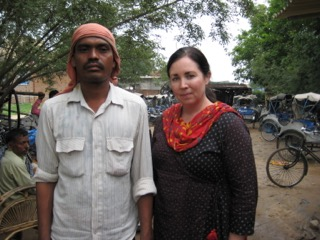 Angie and Mr. Singh.  She loved Ranchi and gets to go back in a couple weeks.