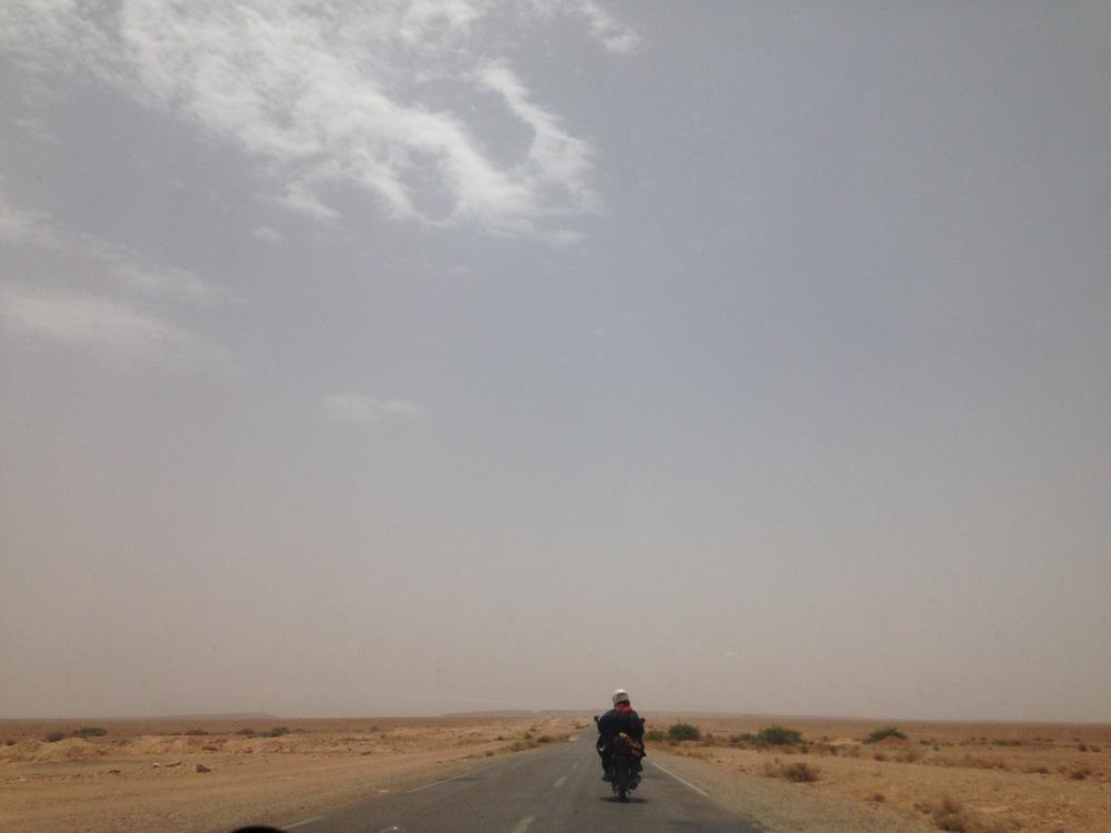 The road to Merzouga.