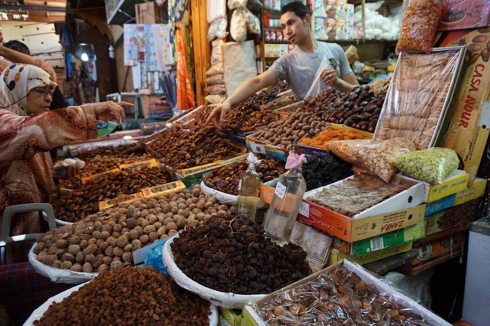 My favorite vendor in the market. I LOVE dates.