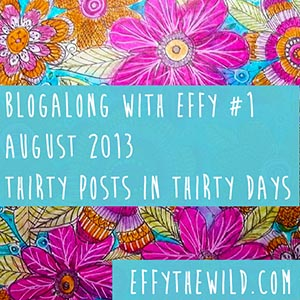 August 2013 ~ Thirty Posts In Thirty Days