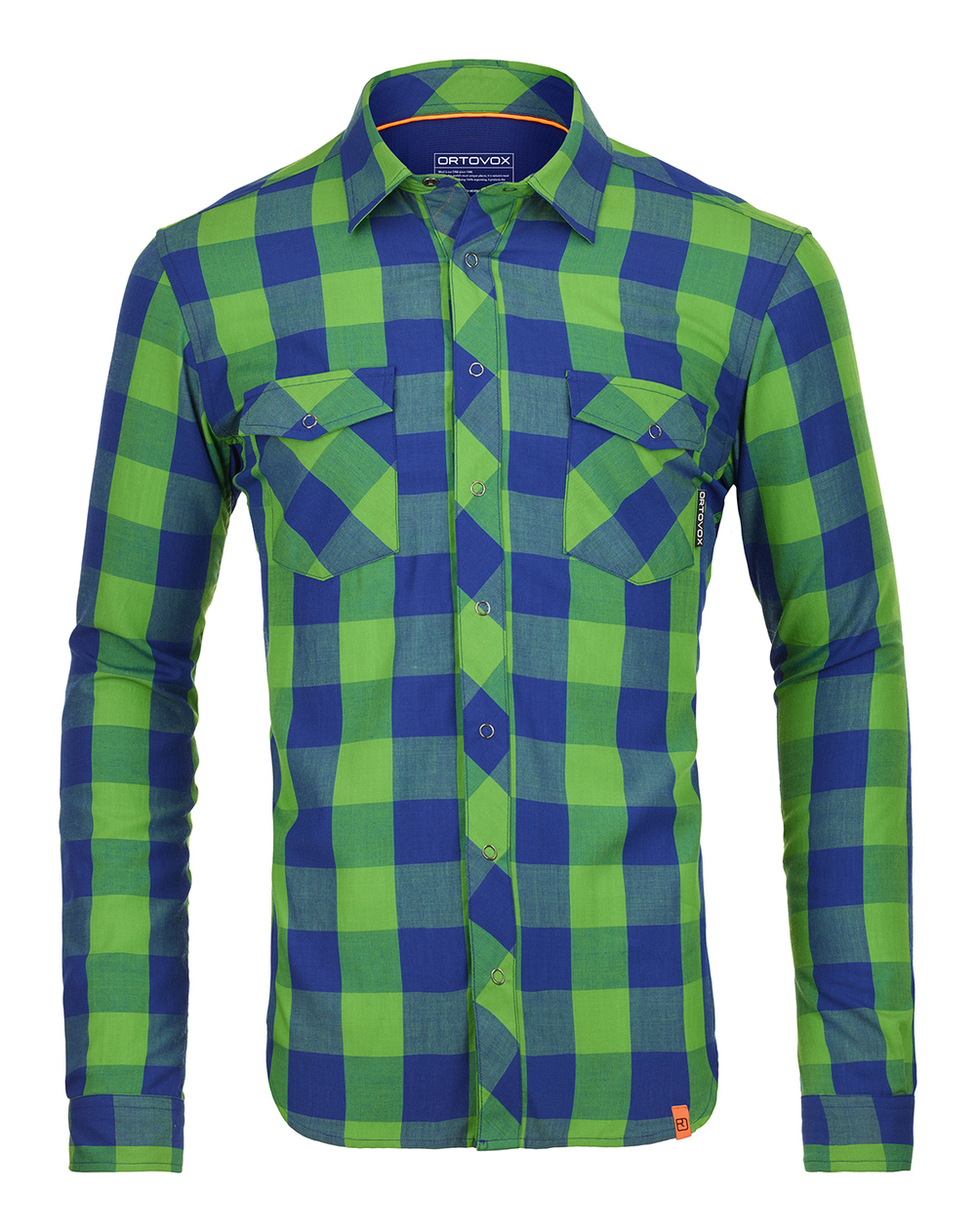 Ortovox Rock N Wool shirt.  Don't be fooled by the collar, this shirt is built for pure badassery -- high altitude, high speed, high exposure. LINK