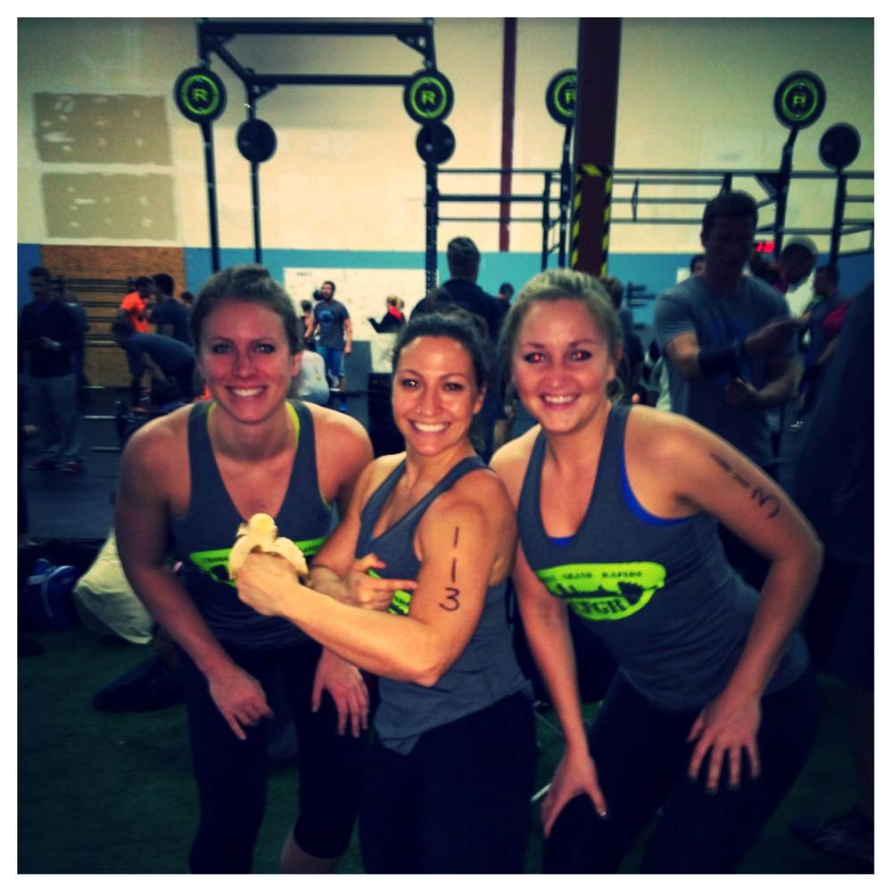 Annie, Lauren and Laney. 4th place finish at CrossFit Shift's Novembrawl.