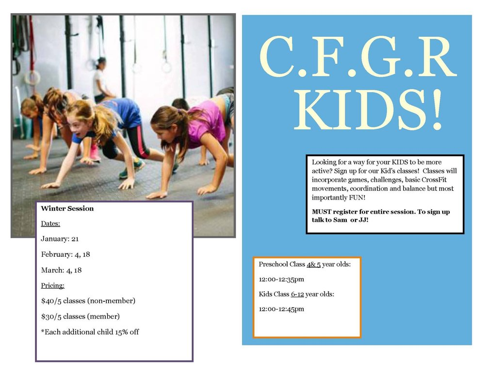 Kids class starts tomorrow!