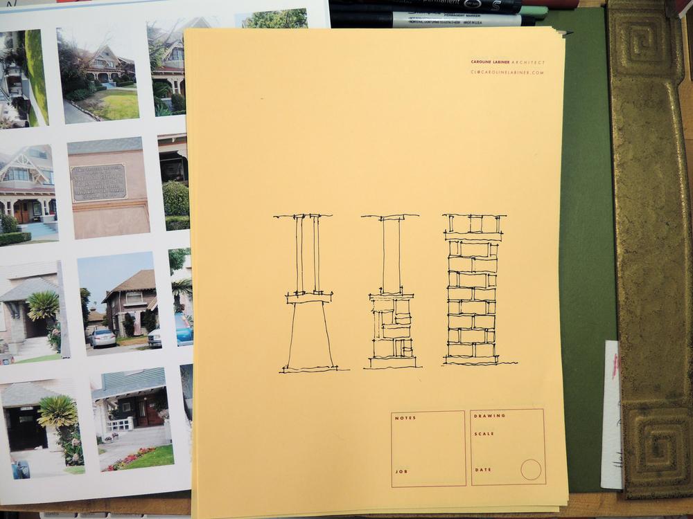 Sketches for rebuilding a porch