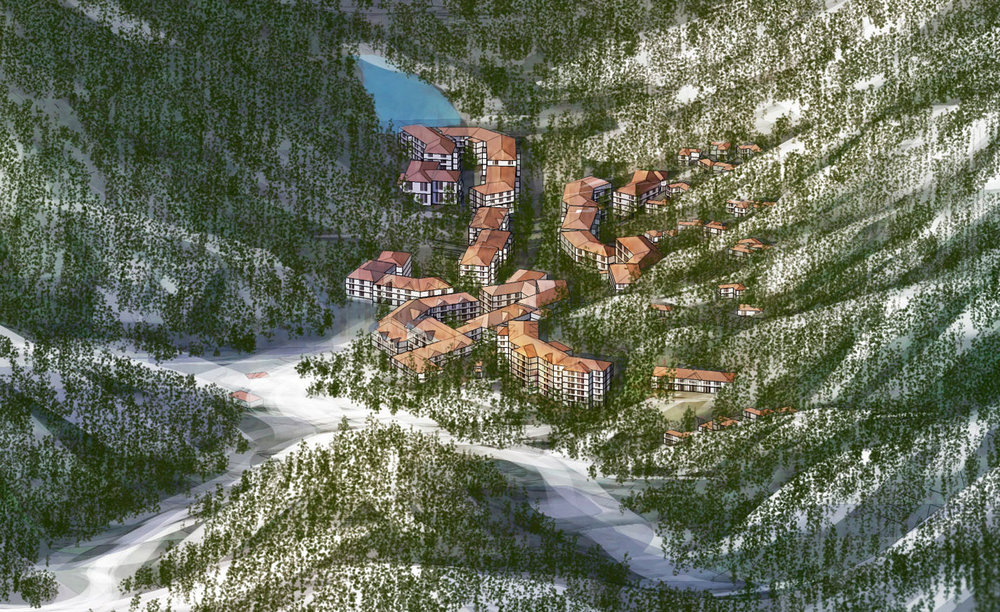 Chongli mountain resort china mountainworks for Designhotel ski