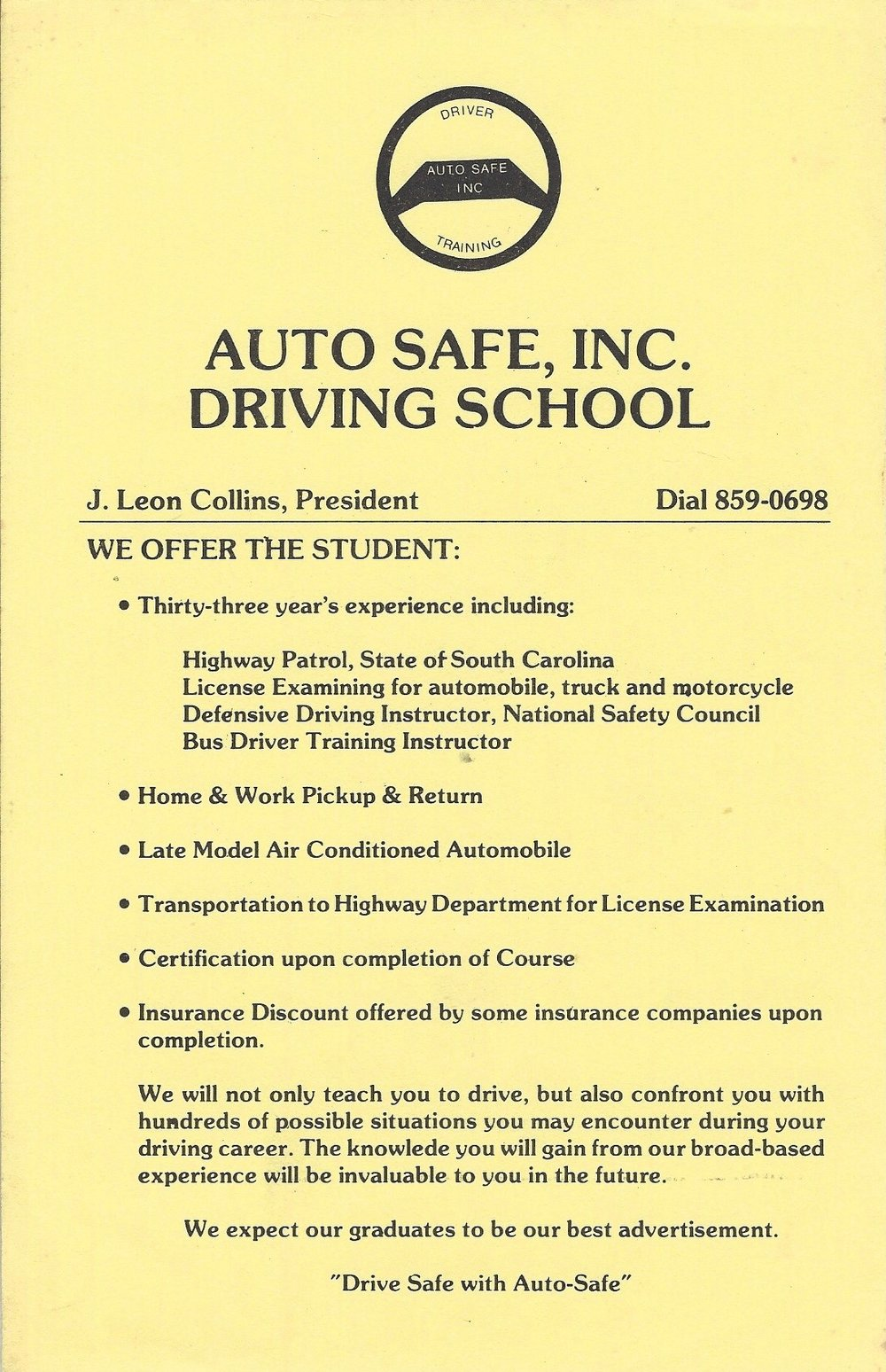 Early Auto-Safe Flyer