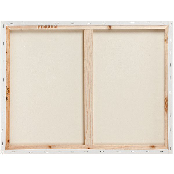 The back of a canvas without any hanging hardware
