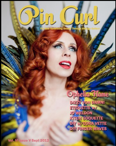 Pin Curl Magazine Cover