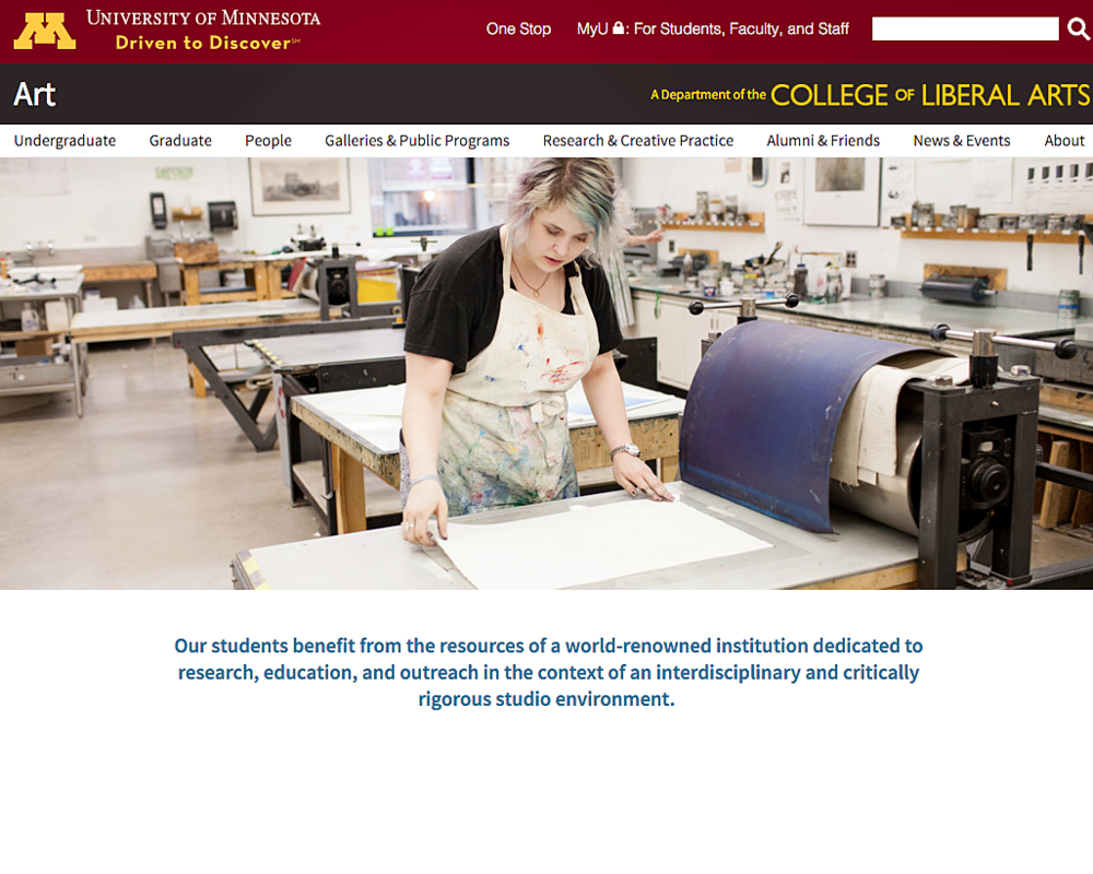 University of Minnesota Website
