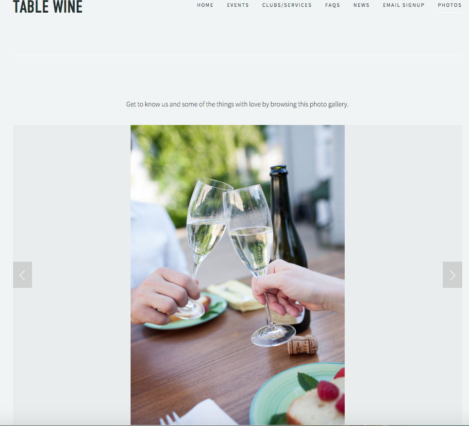 Table Wine Website