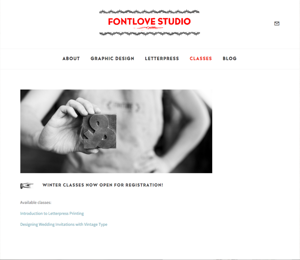 FontLove Studio Website