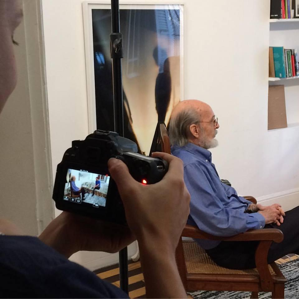 Flávio Damm sendo entrevistado para o programa No Olhar | 2/junho